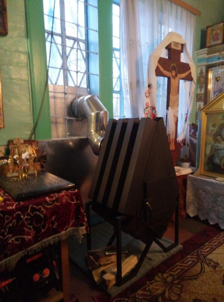 буржуйка в церкви, опалення церкви, опалення церкви, як обігріти церква